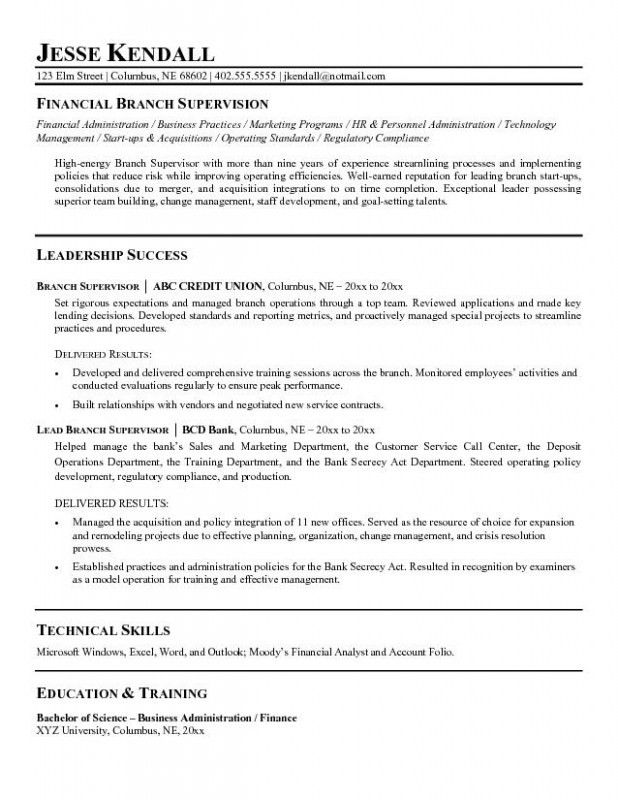 Supervisor Resume Examples – Resume Examples