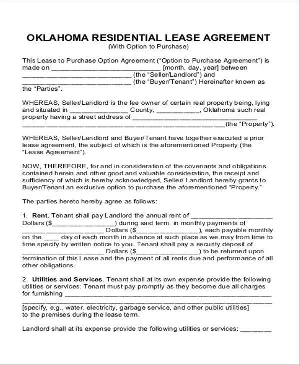 Rent-to-Own House Contract - 5+ Examples in Word, PDF