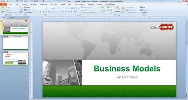 Free Corporate Business PowerPoint Template (16:9) - Free ...