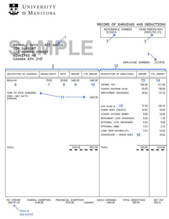 Free Pay Stub Template - vnzgames