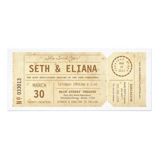 Personalized Theatre Invitations | CustomInvitations4U.com