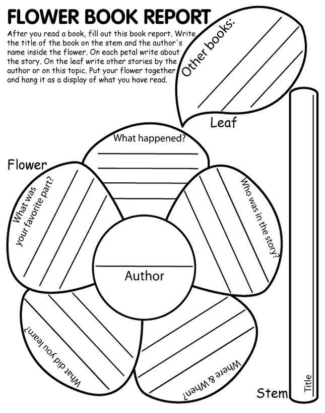 Cereal Box Book Report Template. Flower Book Report Another Great ...