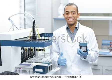 Medical Research Professional Chemist Young African Stock Photo ...