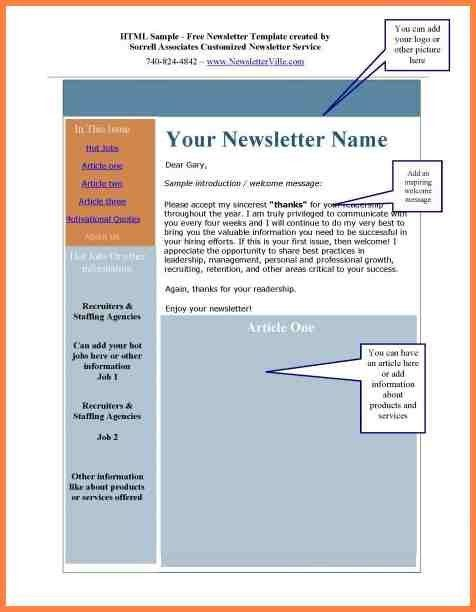 8+ how to create a newsletter template in word 2010 | Newsletter ...