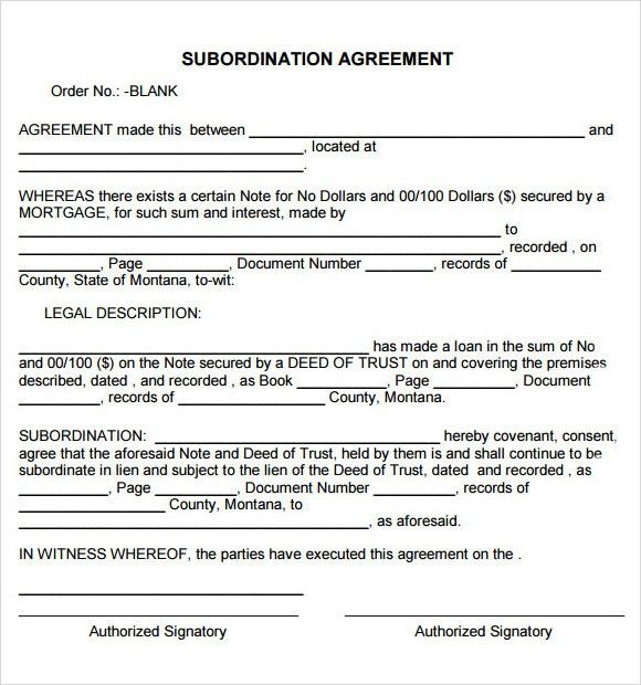 Sample Subordination Agreement. Subordinated Notes Subordinated ...