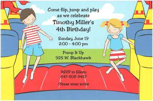 Kids Birthday Party Invitation Wording - vertabox.Com