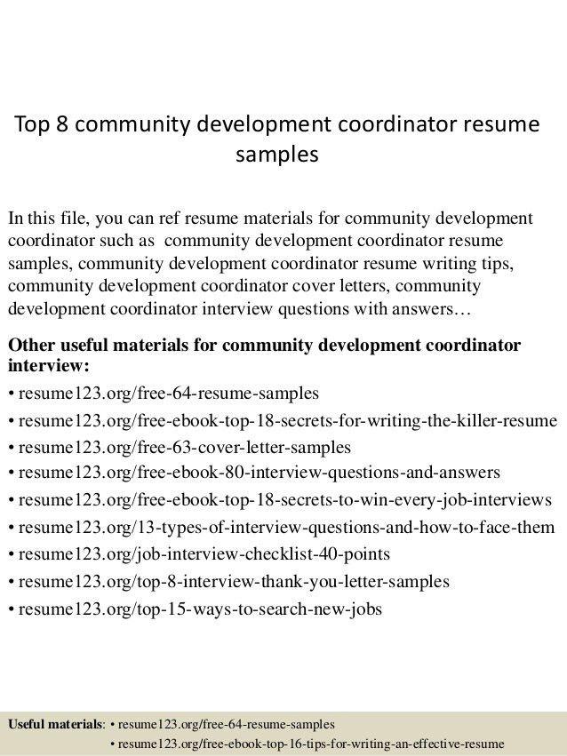 top-8-community-development-coordinator-resume -samples-1-638.jpg?cb=1431827466