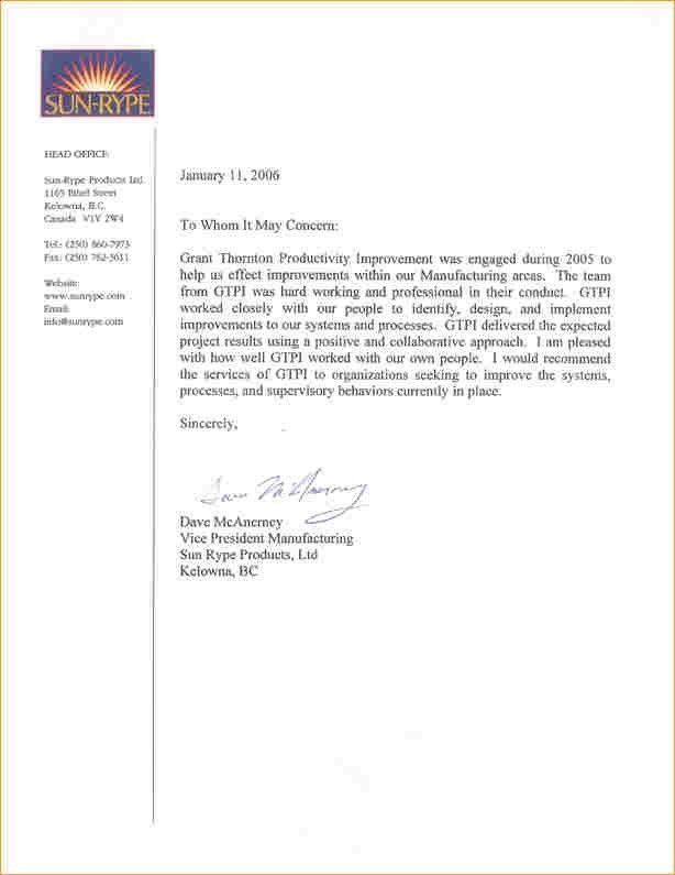 A personal letter example - Business Proposal Templated - Business ...