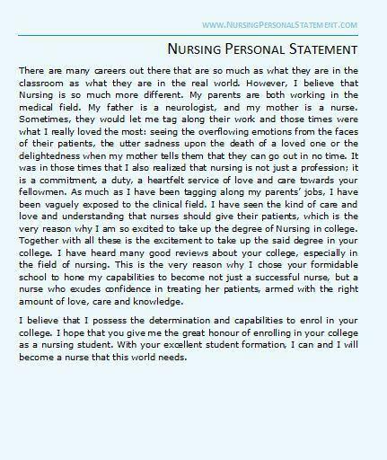 Nursing Personal Statement Samples | Nursing Personal Statement
