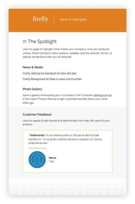 Product manual template: easily add interactivity! | Inkling