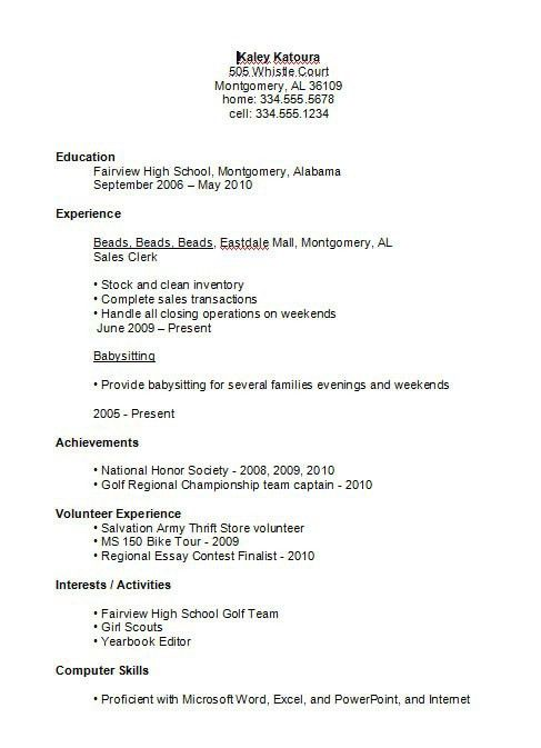 examples of resumes sample resume for job application in format ...
