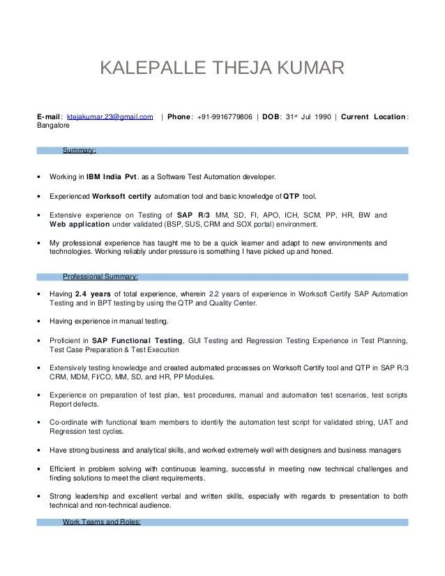 manual testing sample resumes 01 testing fresher resume manual