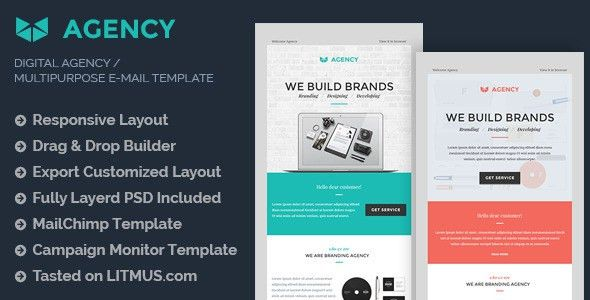 Digital Agency E-mail Template + Builder Access by eeemon ...
