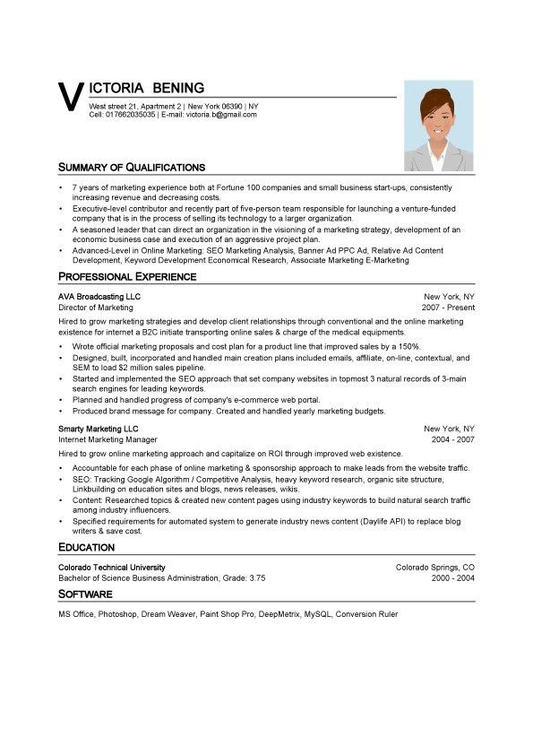 Download Resume On Word | haadyaooverbayresort.com