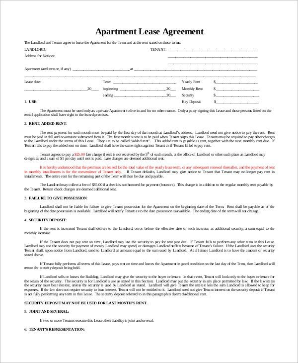 Sample Basic Lease Agreement - 9+ Examples in Word, PDF