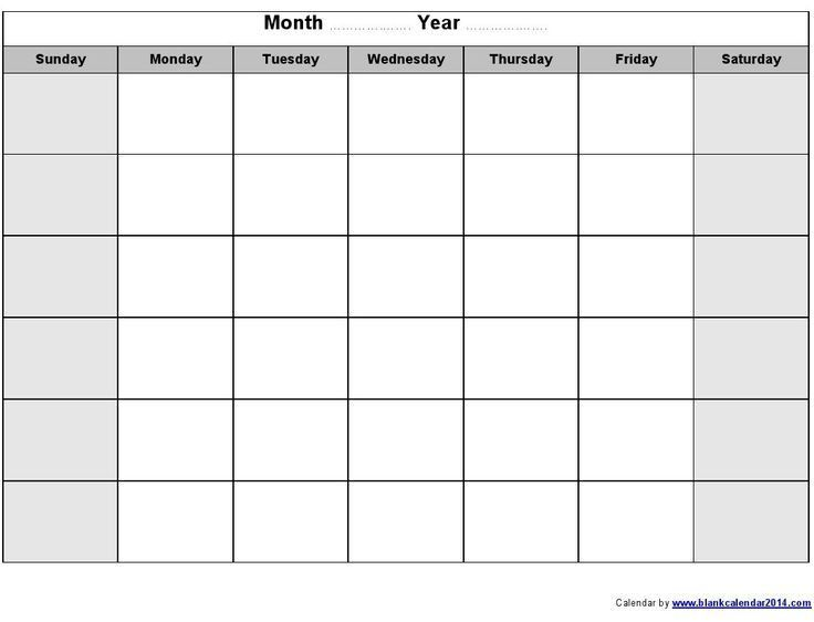 Best 20+ Blank monthly calendar template ideas on Pinterest ...