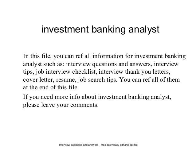 banking cover letter resume template investment investment banking ...