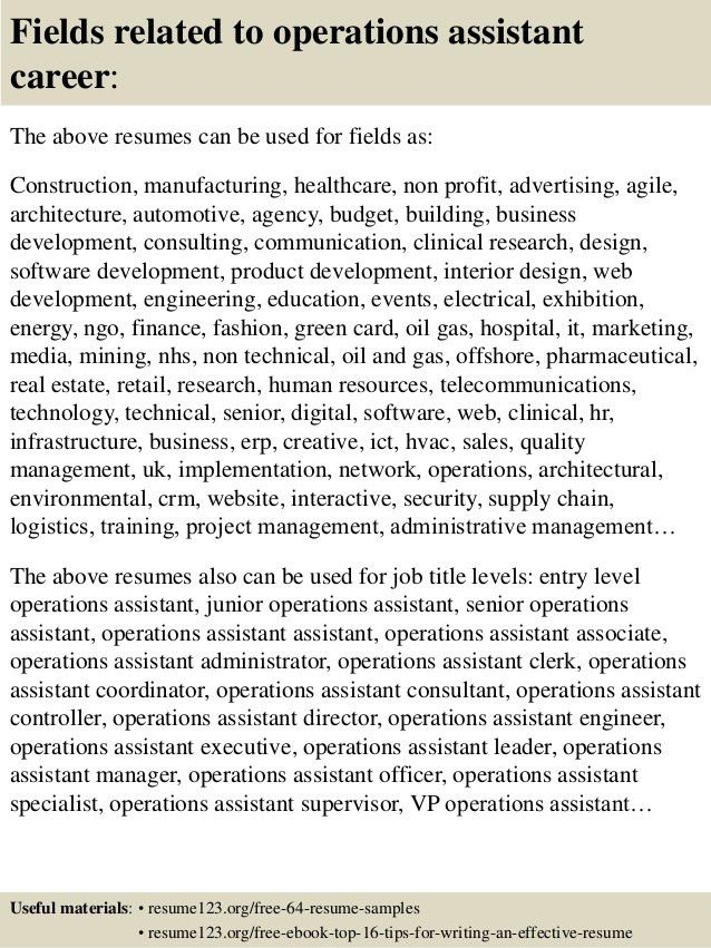 resume director of operations