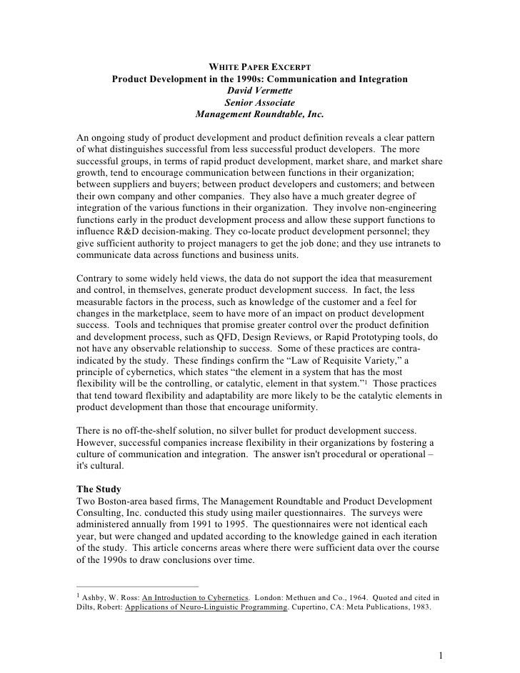 Sample White Paper. Sample Document - 04 View Now Professionally ...