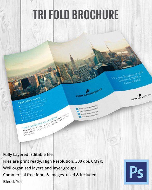 11+ Printable TriFold Templates – Free Word, PSD, PDF, EPS ...