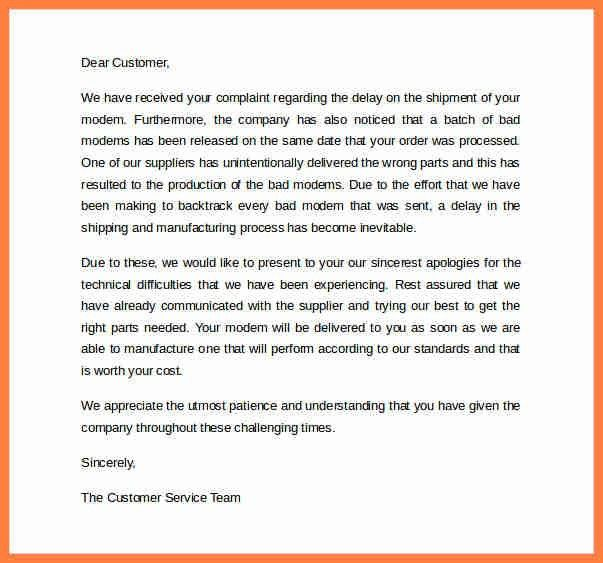 Customer Apology Letter. Apology Letter For Delay - Apology For ...