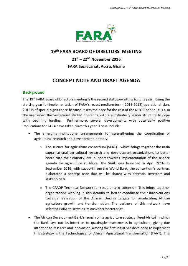 Concept note and draft agenda 19th fara_bod_meeting_english