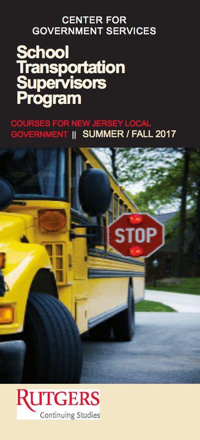 NJ Transportation Supervisors Certification Program   Center For ...