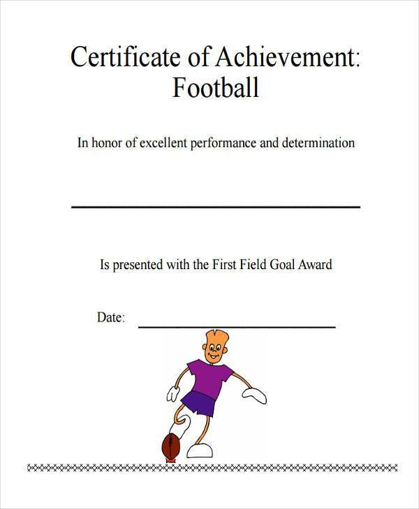 Sample Certificate Of Achievement. Certificate Of Achievement Or ...