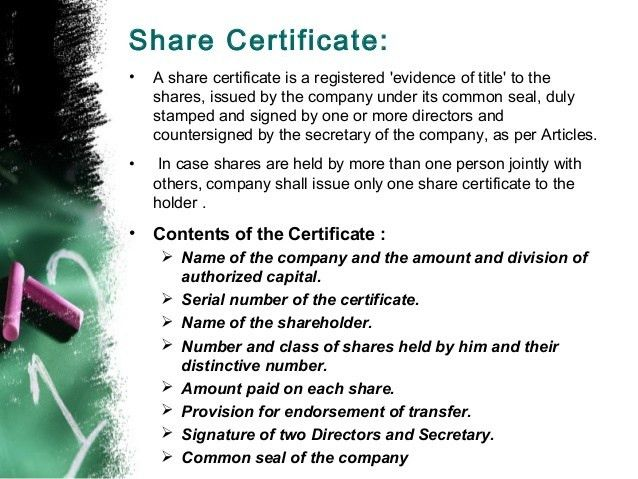 Shares, MBA