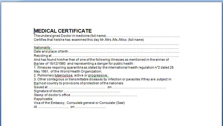 6 Medical Certificate Templates - Certificate Templates
