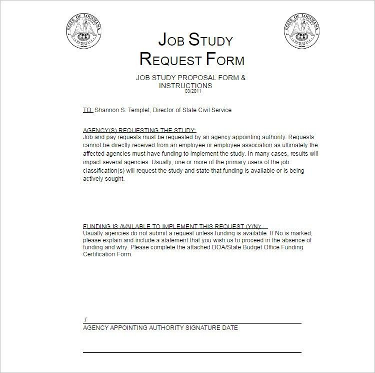 Job Proposal Templates - Free Word, Form, Documents | Creative ...