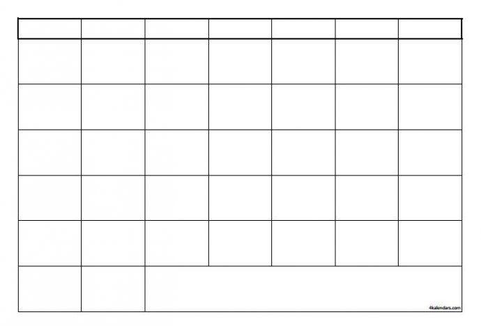 Blank 12 Month Calendar Template 2017