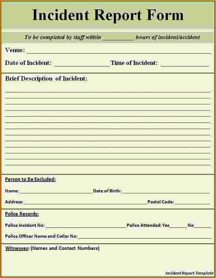 10+ incident report form template word | bibliography format