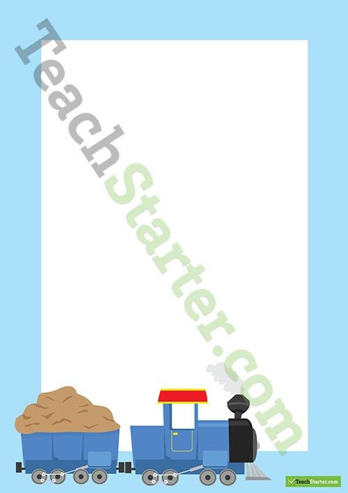 Train Transport Page Border - Word Template Teaching Resource ...