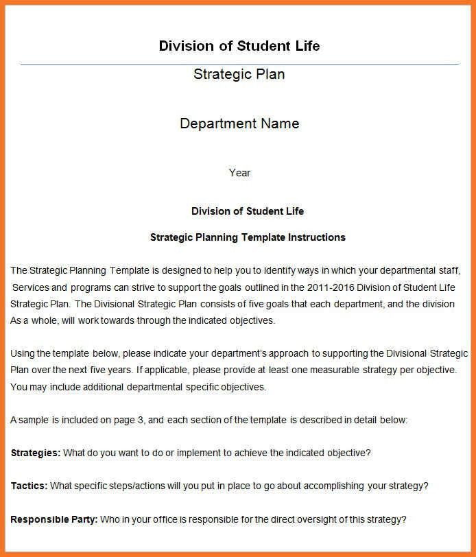 Strategic Life Plan Template. life plan template how to better ...