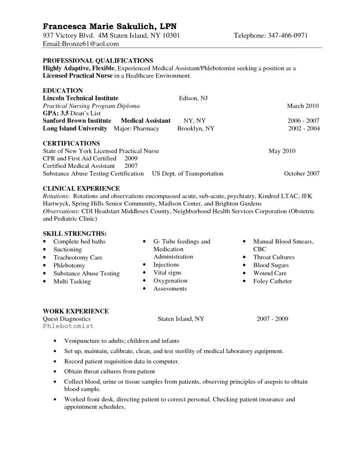 Marvellous Inspiration Lpn Resumes 8 Entry Level LPN Resume Sample ...