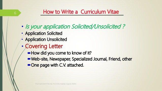 How to write resume cv ?