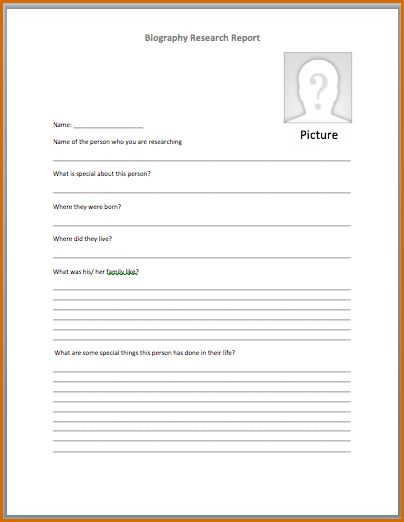 4+ bio template word   Authorizationletters.org