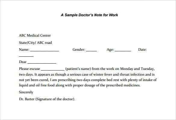 22+ Doctors Note Templates - Free Sample, Example, Format Download ...
