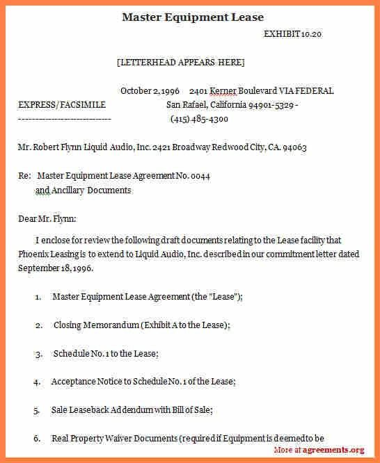 Equipment Lease Agreement. Pdf Format Blank Equipment Rental ...