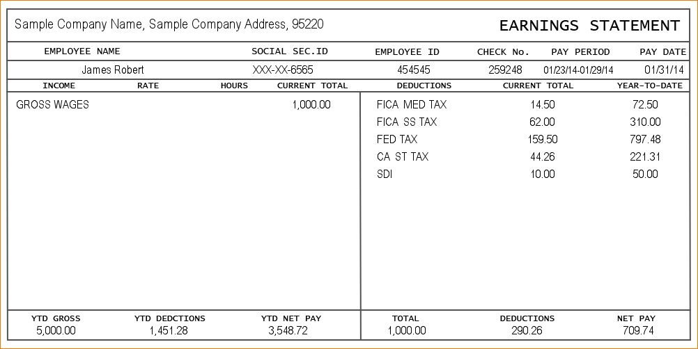 Pay stub free template pay stub template free word pdf excel pay stub templates preview of sample free printable blank usa pay pronofoot35fo Images