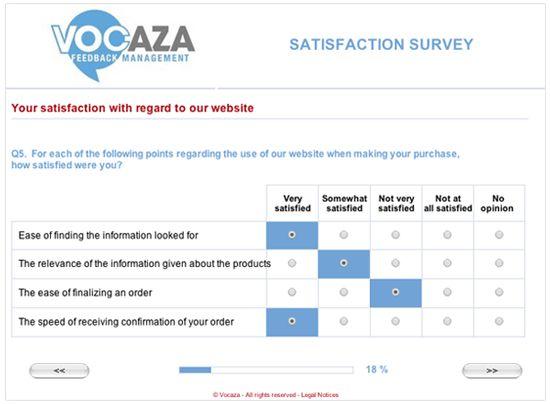 Satisfaction Questionnaire Template | | Vocaza