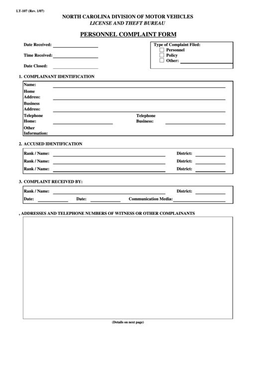 Customer Complaints Form Template] Customer Complaint Form ...
