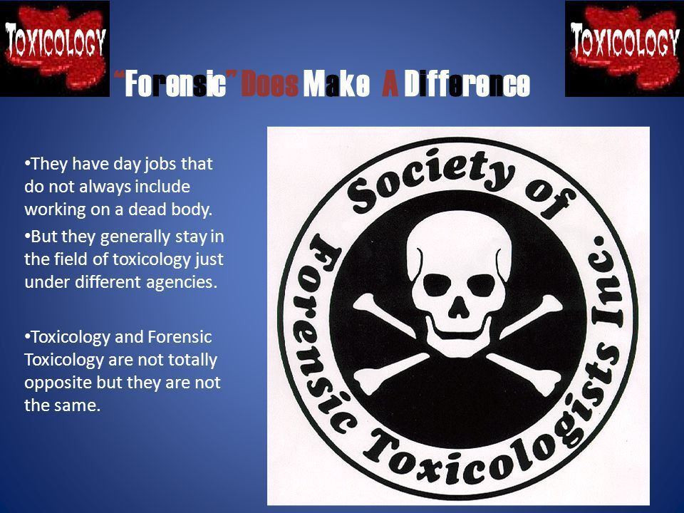 By: DeMarcus Waggoner. What is toxicology? Toxicology... is the ...