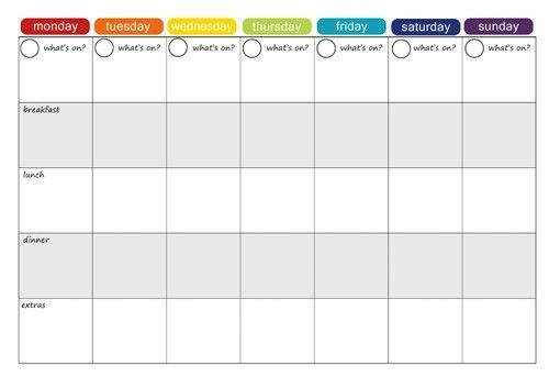 28+ [ Printable Weekly Menu Template ] | 45 Printable Weekly Meal ...