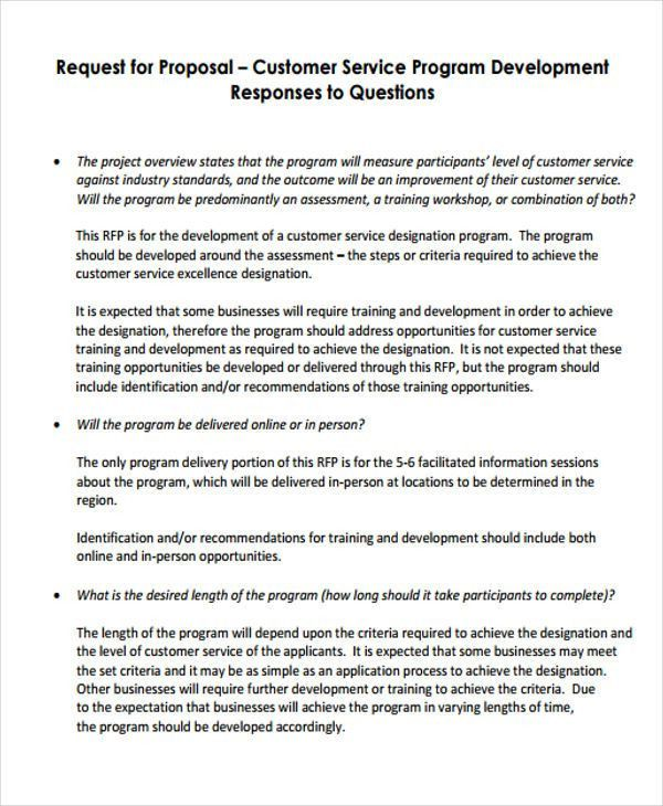8 Customer Service Proposal Templates -Free Sample, Example Format ...