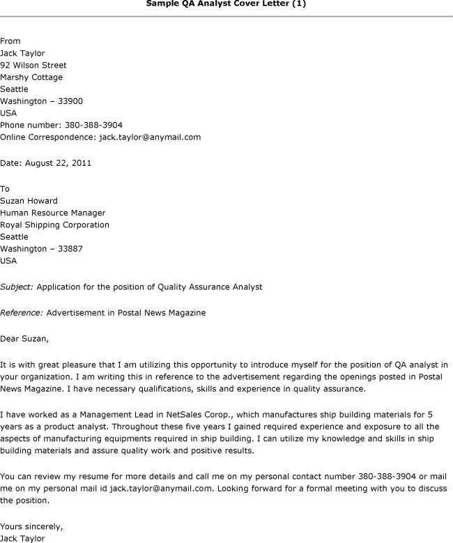 system analyst cover letter 17 marvellous business systems analyst ...