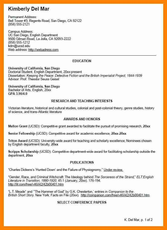 profile in resume example