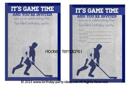 40th Birthday Ideas: Hockey Birthday Invitation Templates Free