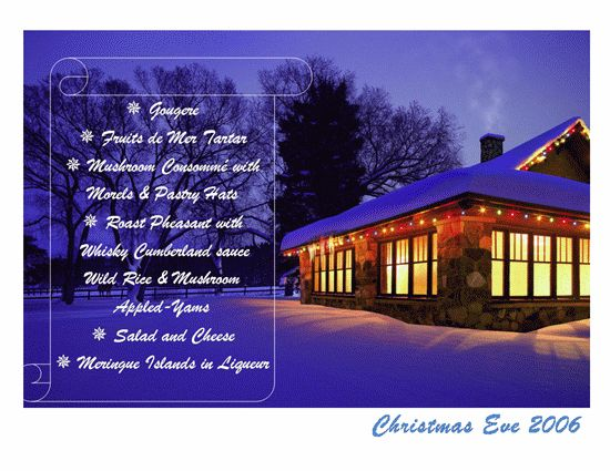 Christmas Menu Templates – Microsoft Word Templates